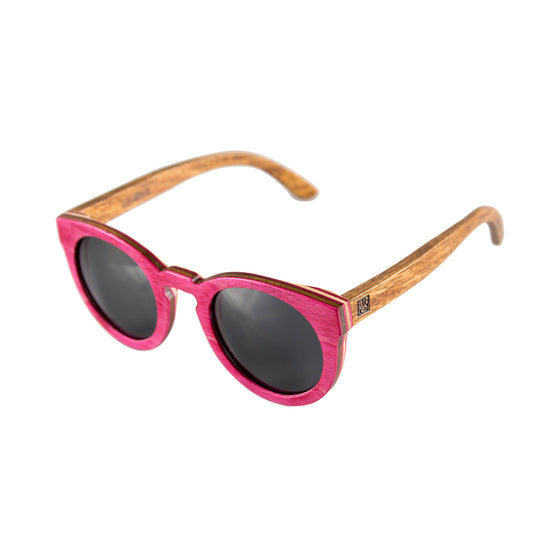 Magenta Maple Cat Eye Sunglasses