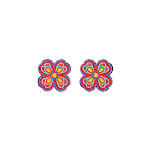 Beaded Flower Post Earrings
