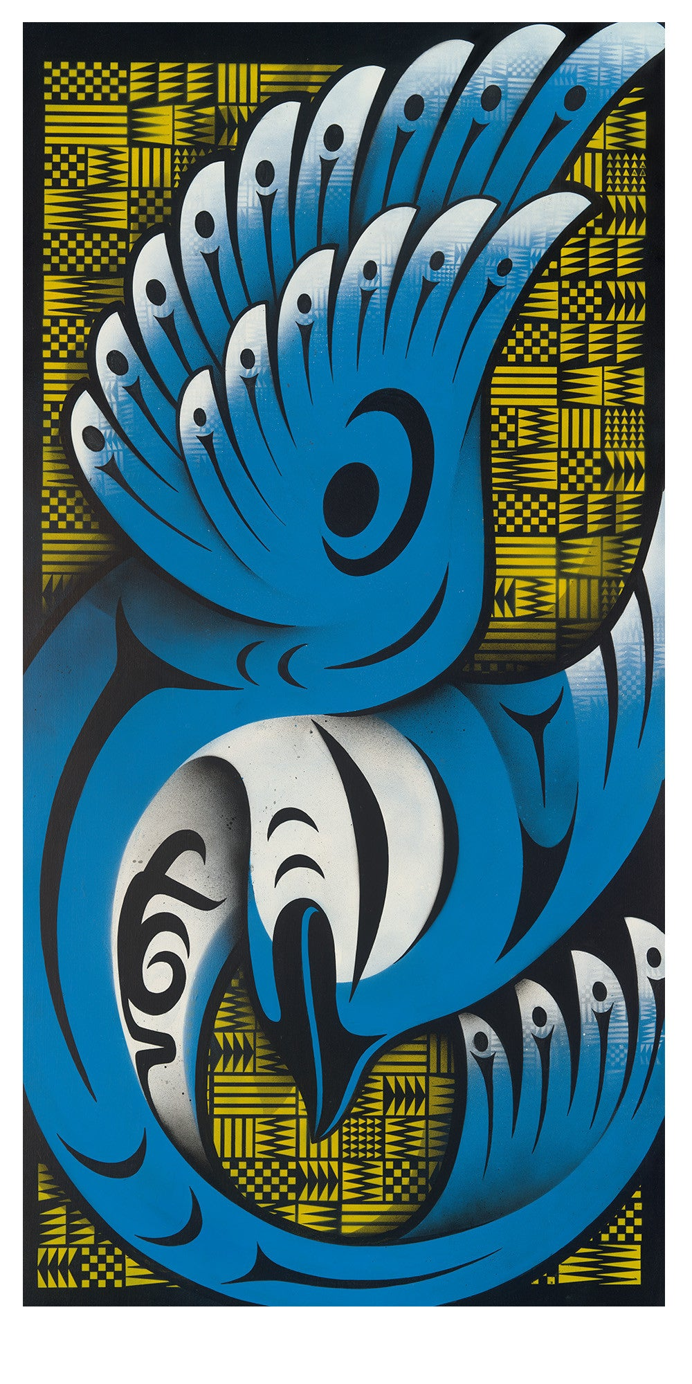Blue Jay limited edition Giclee print by Nooksack Native artist Louie Gong