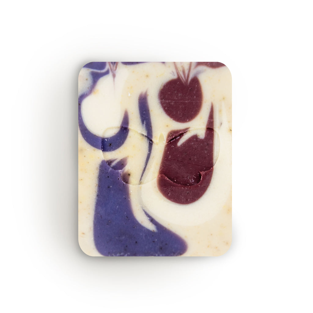 Handcrafted Huckleberry Nettle Lavendar soap by Eighth Generation and Nooksack Native artist Louie Gong