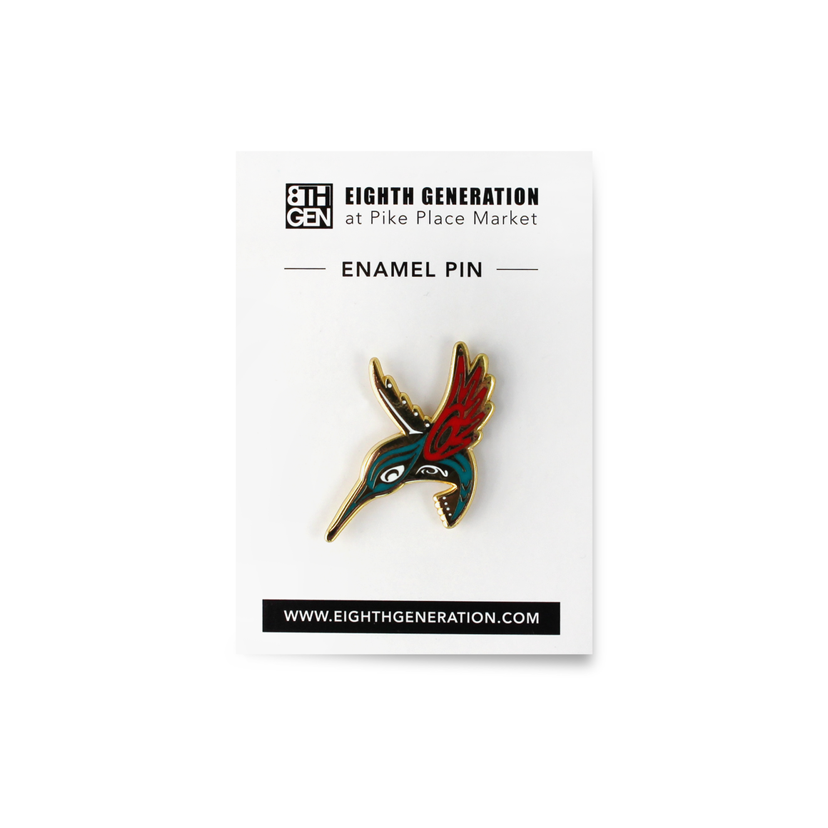 Hummingbird Enamel Pin