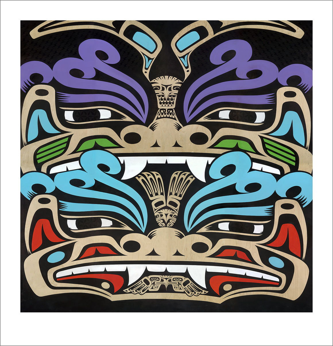 Guardians Fu Dog limited edition Giclee print by Nooksack Native artist Louie Gong