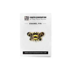Bee Supportive Enamel Pin
