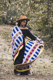 Northern Cheyenne designed All My Relations wool blanket by Eighth Generation and Native designer Bethany Yellowtail