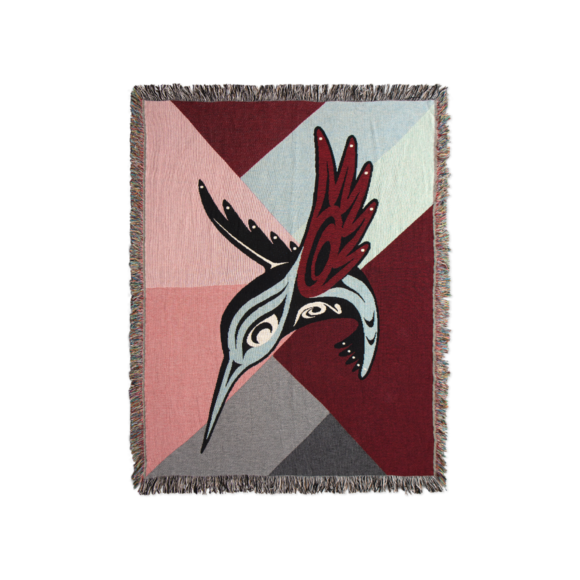 Modern Hummingbird Throw Blanket