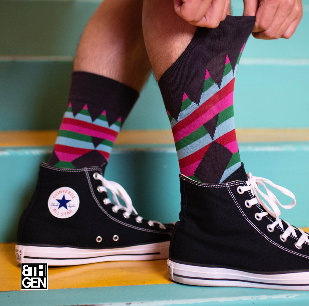 """Ribbons"" Crew Socks"