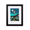 """Rez Cat Forgives His Enemies"" Mini Framed Print"