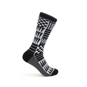 Coast Salish Pattern Crew Socks