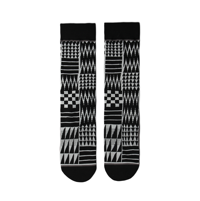 """Salish Pattern"" Crew Socks"