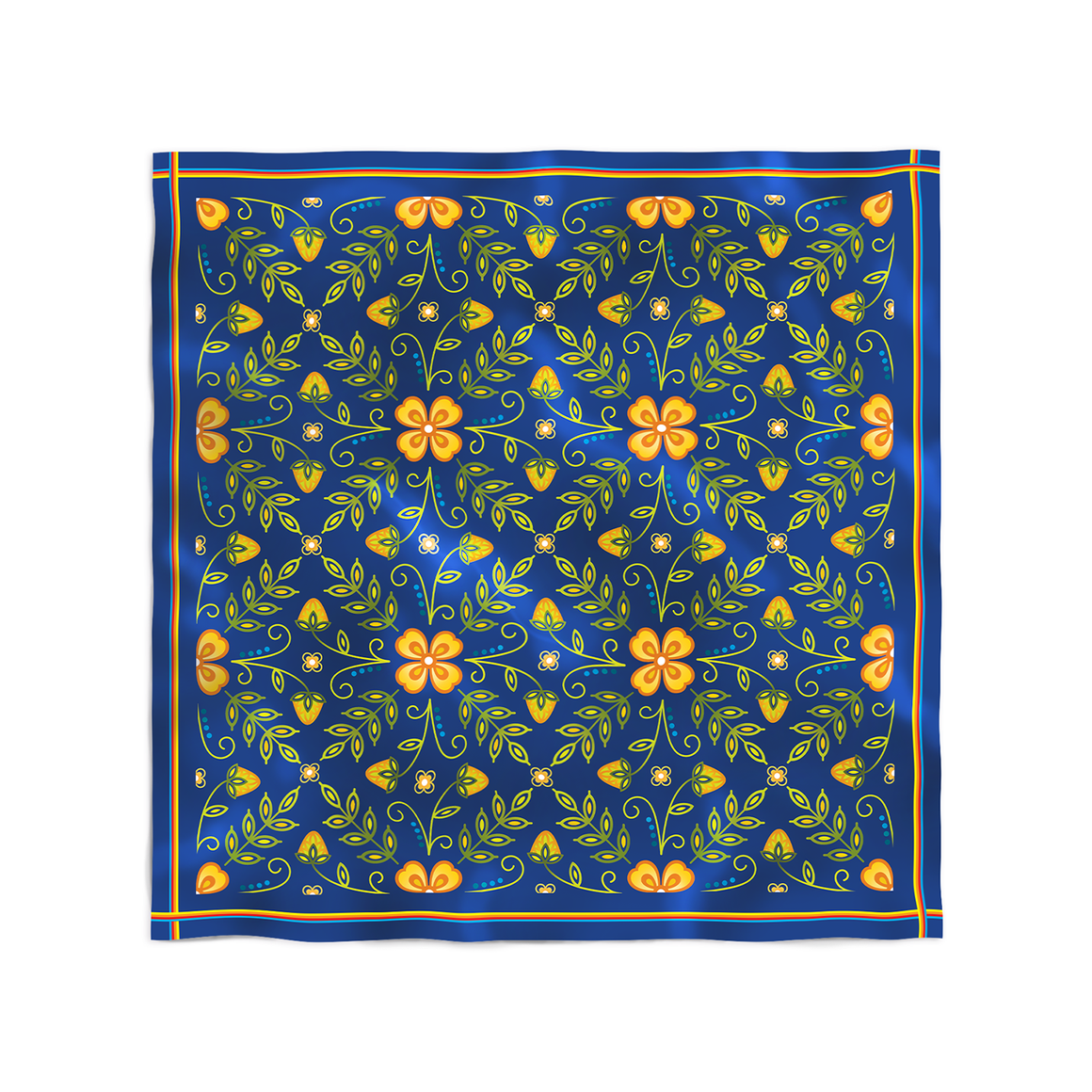 Woodlands Floral Silk Scarf