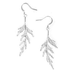 Silver Cedar Bough Earrings