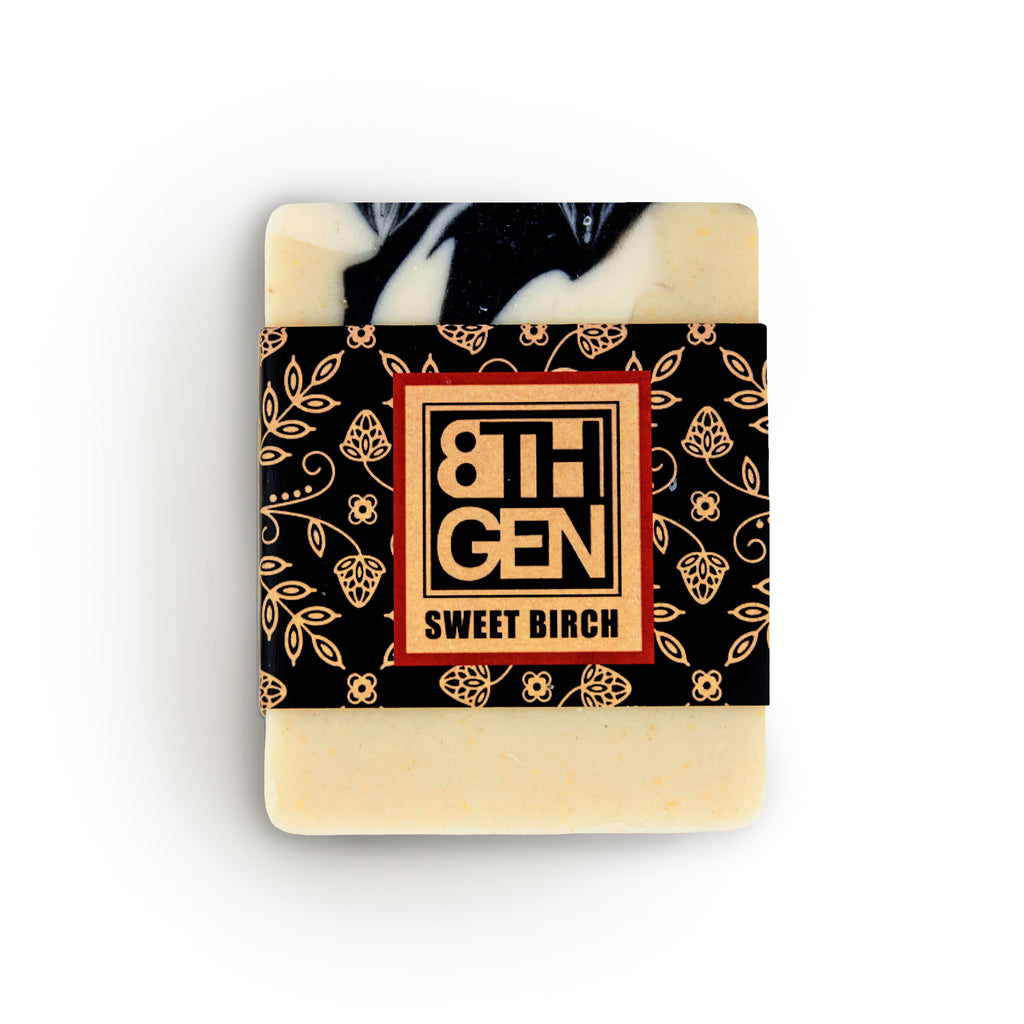 Handcrafted sweet birch and wild rice soap by Eighth Generation and Nooksack Native artist Louie Gong