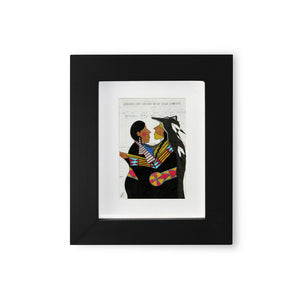 """Wolf Love"" Mini Framed Print"