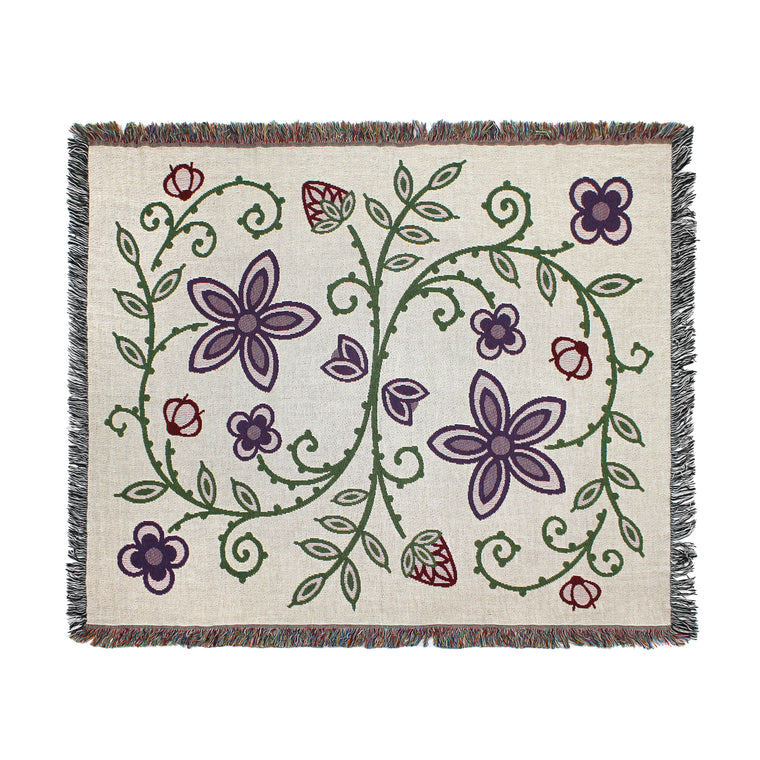 Woodlands Floral Throw Blanket