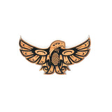 Nooksack designed wood Eagle pendant by Eighth Generation and Native artist Louie Gong