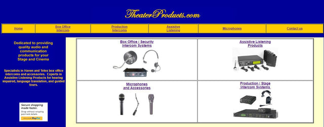 TheaterProducts.com Legacy Home Page
