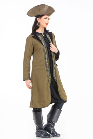 Angelica Suede Coat With Vest detail