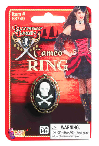Skull and crossbone Cameo Ring