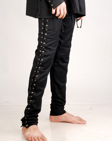 Lace Up Side Pants ( Slim Fit )