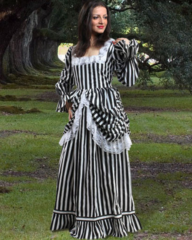 The Beauty of The Stripe Gown