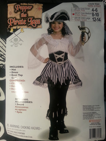 Pepper The Pirate Lass Costume