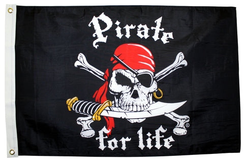 """Pirate For Life""  Flag"