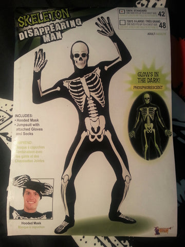 Glow In The Dark Full Skeleton Suit