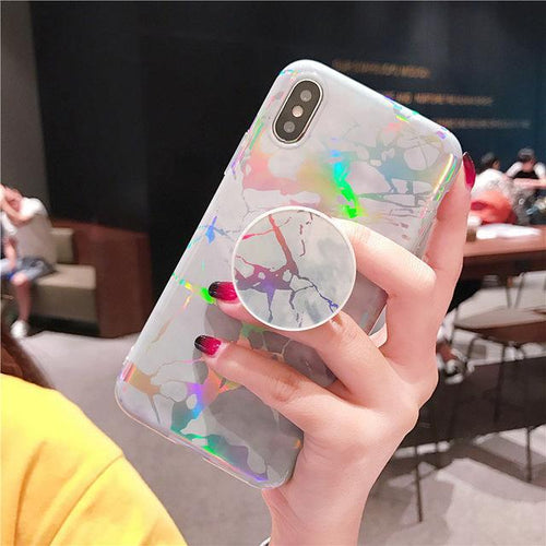 Off-White Laser Marble iPhone Case
