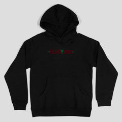 Passport life of leisure Embroidery Hoodie Black