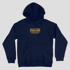 Passport International Solidarity Hoodie Navy