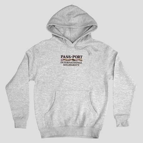 Passport International Solidarity Hoodie Heather grey