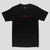 Passport life of leisure Embroidery  t-shirt black