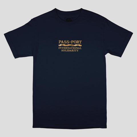 Passport International Solidarity t-shirt Navy