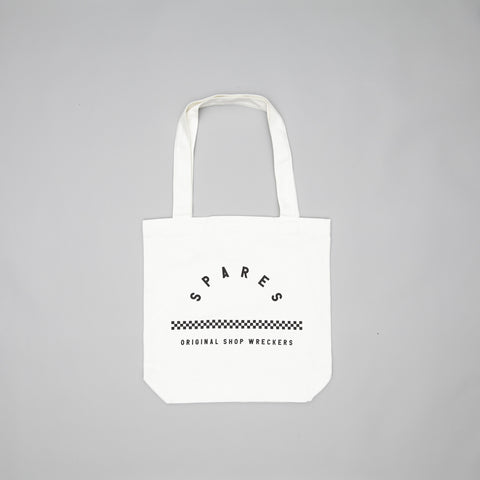 Spares original shop wreckers tote bag white