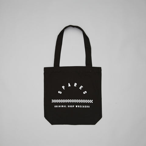 Spares original shop wreckers tote bag Black