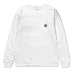 Carhartt L/S pocket t-shirt white