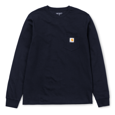Carhartt L/S pocket t-shirt Navy