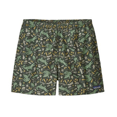 Patagonia baggies 5 inch shorts Alligators and bullfrogs/kale green