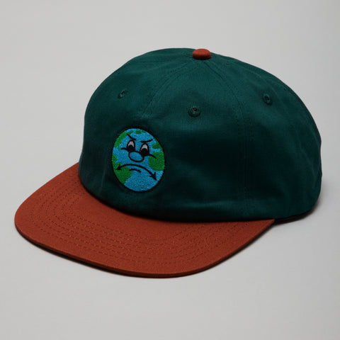 Buttergoods world 6 panel cap forest/burnt orange