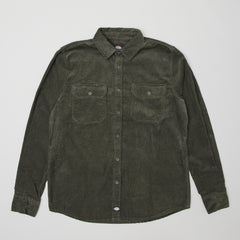 Dickies Sonora Corduroy button up shirt Army green