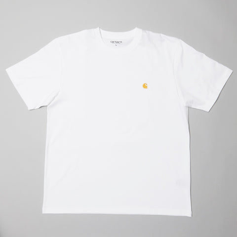 Carhartt Chase T-shirt white/gold