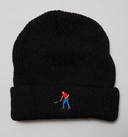 Passport Full time Embroidery Beanie Black