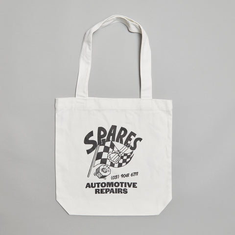 Sparesstore checkered flag tote white