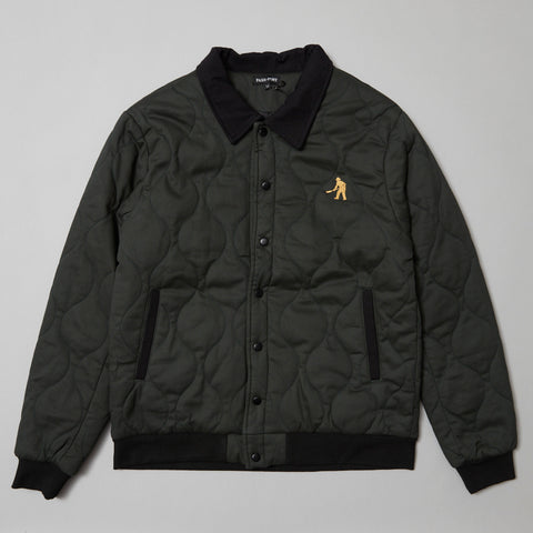 Passport Late quilted jacket midnight green