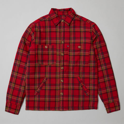 Passport Late Quilted Flannel jacket Red