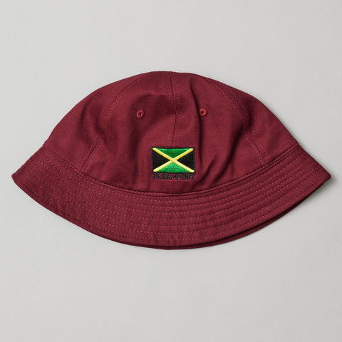 Passport jamaica bucket hat burgundy