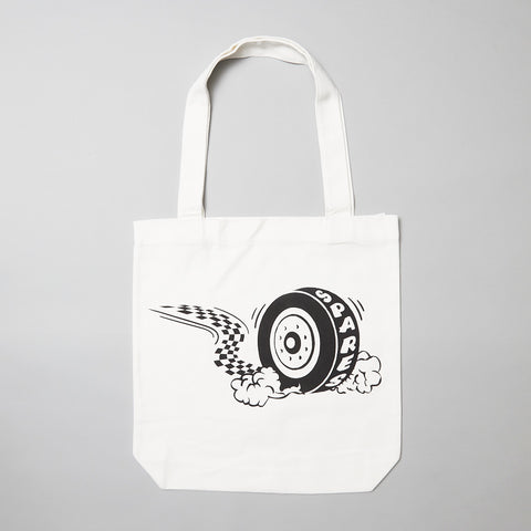 Sparesstore Burn out tote bag white