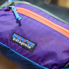 Patagonia lightweight hip pack Patchwork steller blue