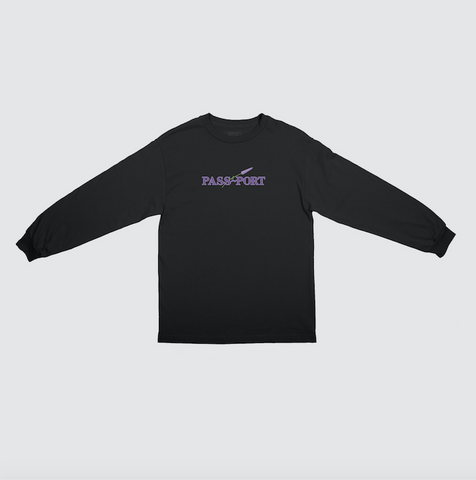 Passport Lavender L/S t-shirt Black