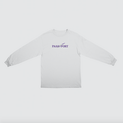 Passport Lavender L/S t-shirt white